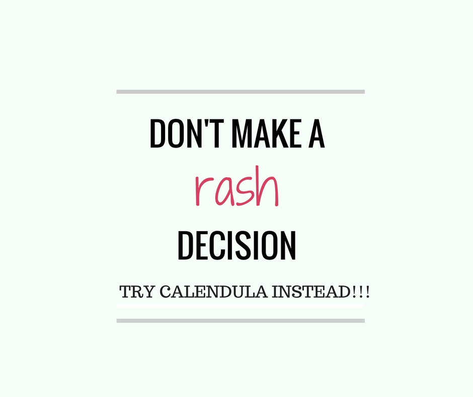 Dont make a rash decision